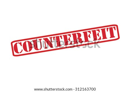 COUNTERFEIT red Rubber Stamp Vector over a white background. - stock vector