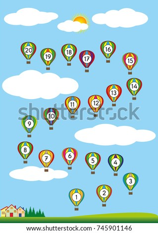 Counting Backwards By 1 20 Exercises Stock Vector 745901146 ...