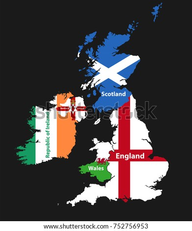 Countries british isles united kingdom england scotland stock vector countries of british isles united kingdomengland scotland wales northern ireland gumiabroncs Choice Image