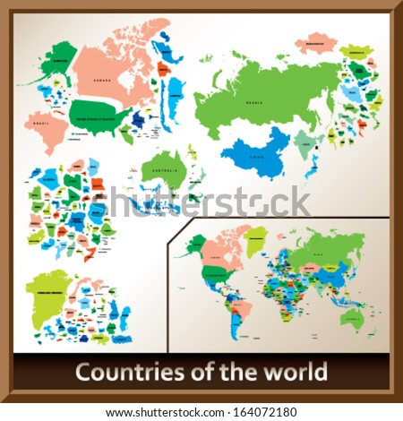 Countries of the world - stock vector