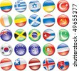 Country Flag Icons - stock photo