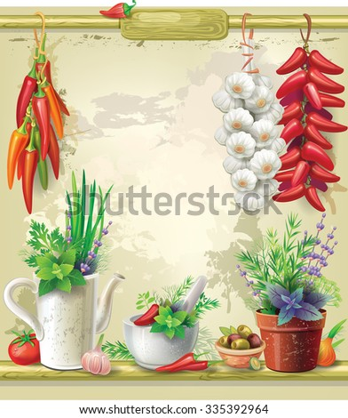 Country Still life - stock vector