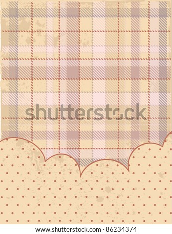 Country-style background (red) - stock vector