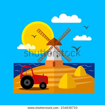 Countryside landscape - stock vector