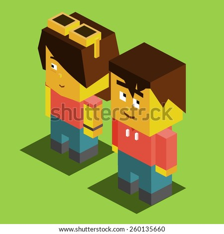 Couple Getting merried. vector illustration - stock vector