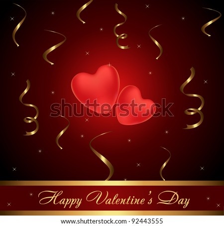 couple of hearts on St. Valentine's day - stock vector