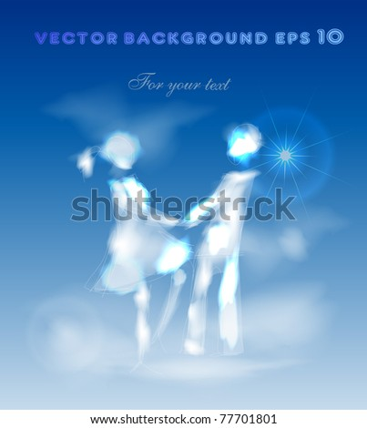 couple on the havens - stock vector