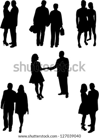 couple people collection vector - stock vector
