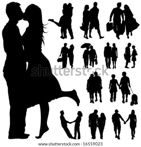 couple people vector - stock vector
