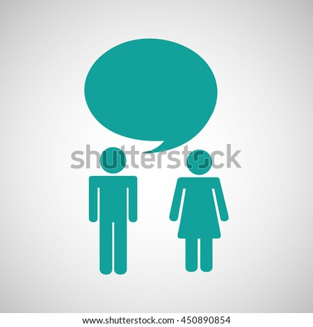 couple talking illustration in white background, vector - stock vector