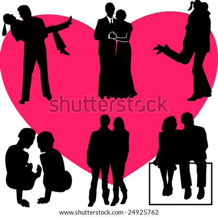couples collection - vector