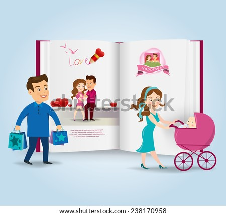 Couples.vector illustration - stock vector
