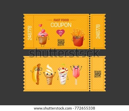 Fast Food Restaurant Discount Card