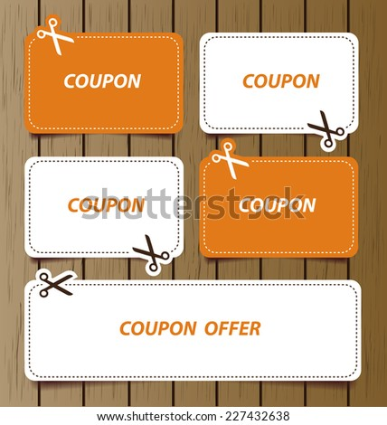 Blank Coupon Stock Images, Royalty-Free Images & Vectors