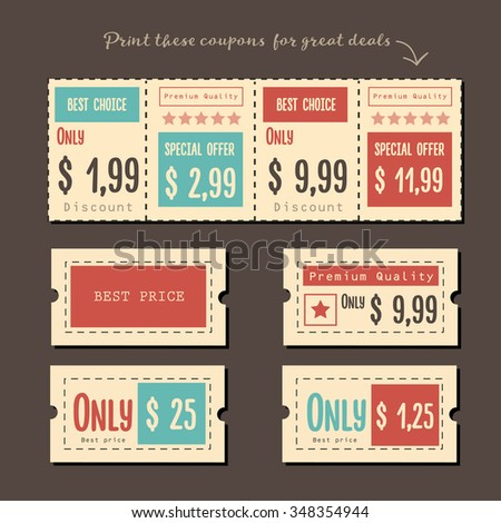 Coupon sale,vector illustration.