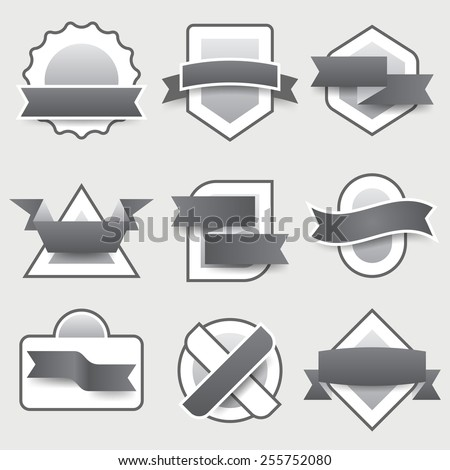 Coupons labels set. Vector eps 10.
