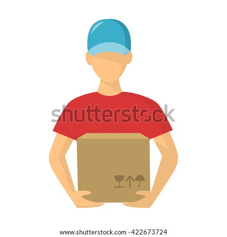 Courier icon.  - stock vector