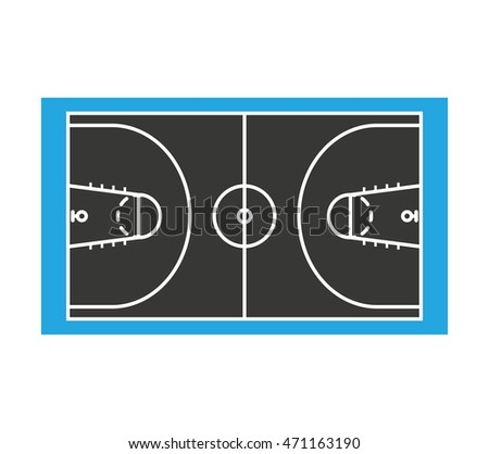 court basketball sport isolated icon vector illustration design