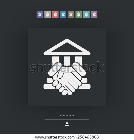 Courthouse agreement - stock vector