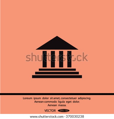 courthouse icon - stock vector