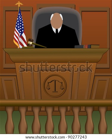 Courtroom - stock vector