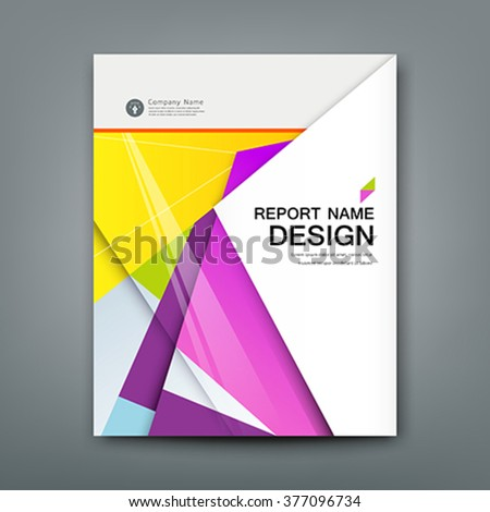 Cover Annual Report Abstract material geometric colorful background, vector illustration