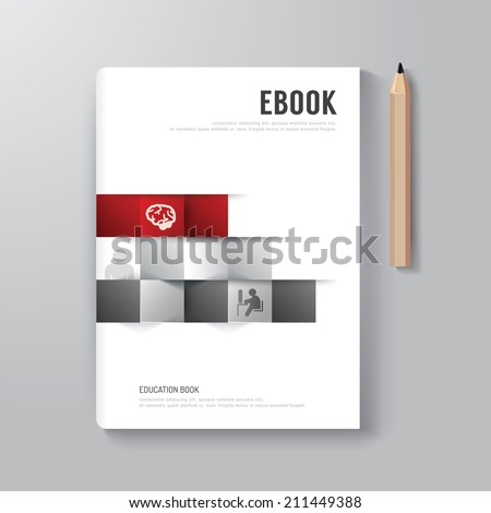 Cover Book Digital Design Minimal Style Template / can be used for E-Book Cover/ E-Magazine Cover/ vector illustration - stock vector
