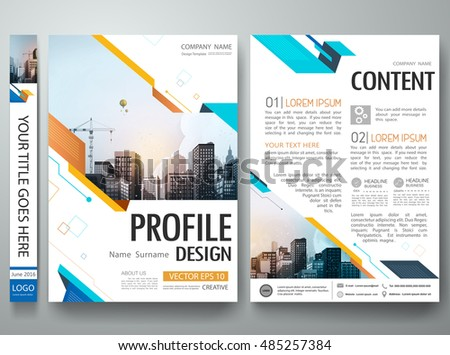 Cover book portfolio presentation brochure design template vector.Blue abstract shape poster portfolio layout design.City design on A4 brochure.Business flyers report magazine poster layout template.