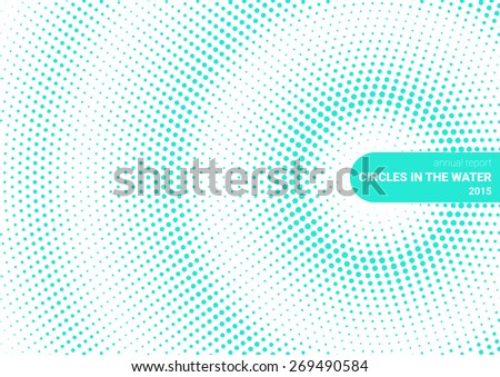 cover Circles in the water - stock vector