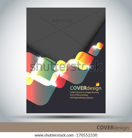 Cover design - stock vector