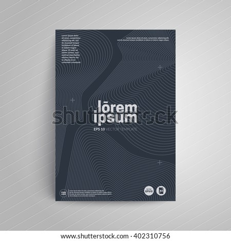 Cover design a 4 format template business stock vector 402310756 a4 format template for business cardposterflyer etc reheart Choice Image