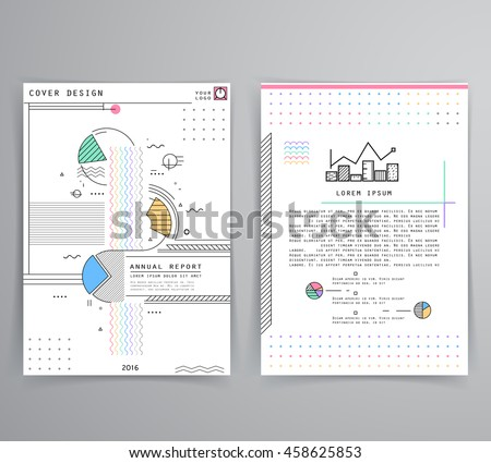 cover design annual business report creative stock vector, Presentation templates
