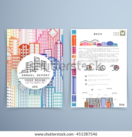 Cover design annual report template brochures stock vector 2018 cover design annual report template brochures flyers business presentations modern flat line flashek Images