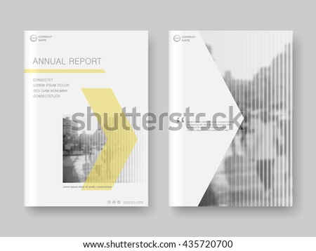 Cover design annual report,vector template brochures, flyers, presentations, leaflet, magazine a4 size. Yellow arrows abstract background - stock vector