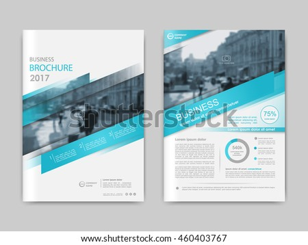 Cover design annual report,vector template brochures, flyers, presentations, leaflet, magazine a4 size. Abstract white with blue stripe. Vector illustration - stock vector
