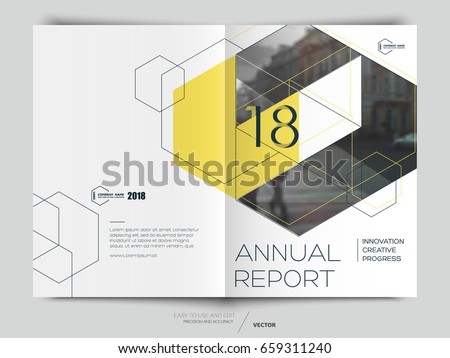 Cover Design Annual Reportvector Template Brochures Stock Vector