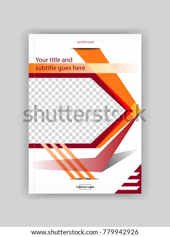 Cover Design Booklet Template Book Magazine Stock Vector