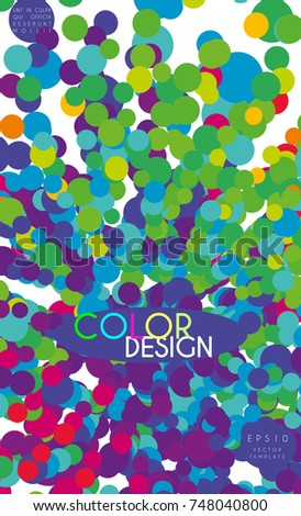 Cover Design Color Circles Legal Brochure Stock Vector 748040800