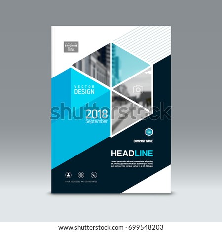 Cover Design Corporate Brochure Template Magazine Stock Vector Hd