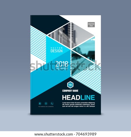 Cover Design Corporate Brochure Template Magazine Stock Vector