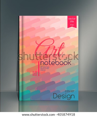 Cover design. Creative cover. The effect of bright light. Cover for the company's environmental, energy, and environmental organizations. Vivid Parallel lines forming picturesque texture.  - stock vector