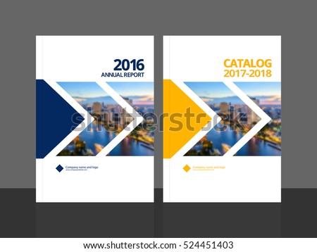 cover design for annual report and business catalog magazine flyer or booklet brochure