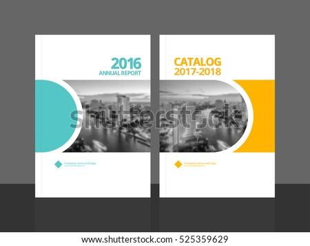 Cover Design Annual Report Business Catalog Stock Vector (2018 ...