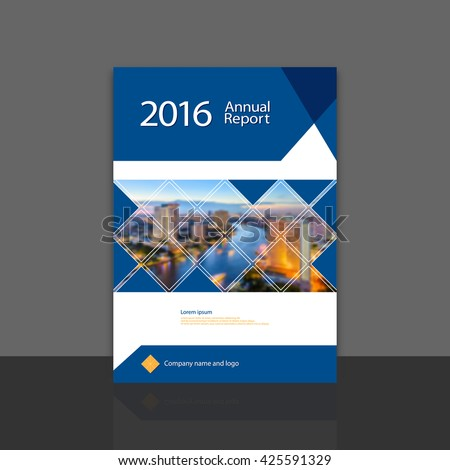 Cover Design Annual Report Brochure Flyer Vector 425591329 – Annual Report Cover Page Template