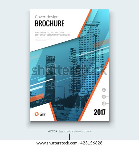 Cover design for Annual Report, Catalog or Magazine, Book or Brochure, Booklet or flyer. Layout template in A4 with motion elements. Creative template in bright colors. Vector
