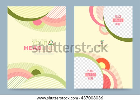 Cover Design Template Lines Circle Style Stock Vector 437008036 Shutterstock