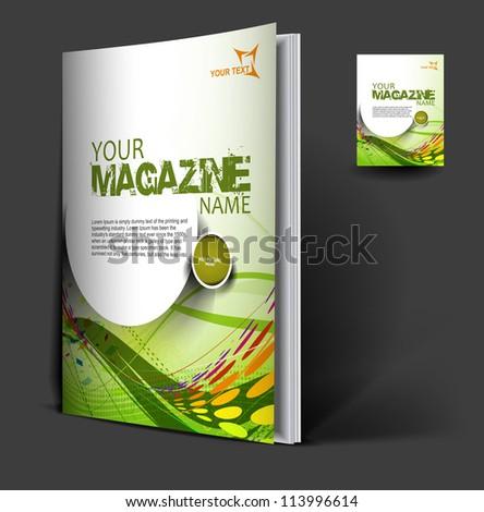 cover design template., vector illustration. - stock vector