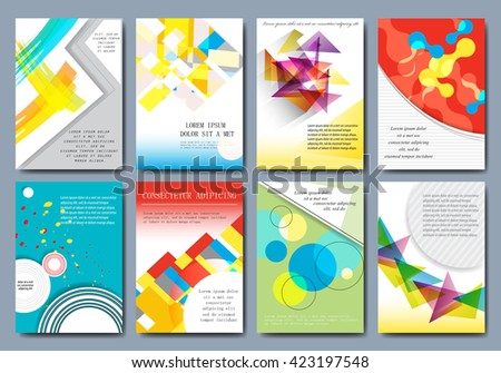 Cover Design - Vector Illustration, Graphic Design. Modern Cover, Colorful Design - stock vector