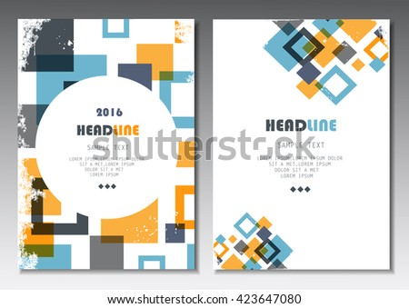 Cover Design - Vector Illustration, Graphic Design. Modern Design - stock vector