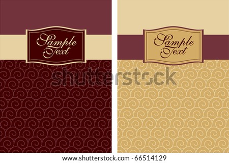 cover design with waves - stock vector